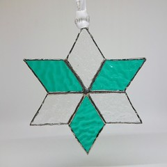 Custom Colours Star //  Stained Glass Decoration 11.5x11.5cm