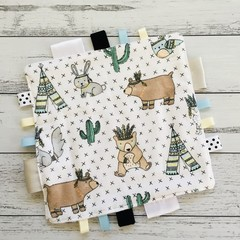 Taggy blanket Taggie tag toy Baby sensory snuggle