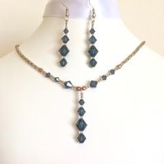Swarovski Crystal Earring & Necklace Set: Linnea & Landon