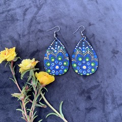 Unique Dot Mandala Earrings
