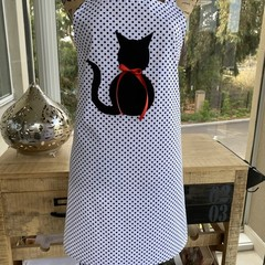 Kitty Polka Dot Apron