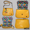 Hedy Convertible Clutch - Yellow - Rainbows and Flowers
