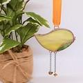 Custom Colours // Little Bird Stained Glass Suncatcher 8 x 5 cm