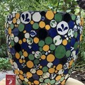 Large hand made mosaic plant pot