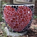 Large handmade mosaic plant pot