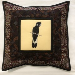 Australiana cushion cover - CARNABY'S BLACK COCKATOO