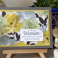 Birthday / Mother's Day Handmade Card  - flower