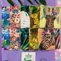 Boho jungle zebra 10 pack face scrubbies