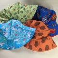 Baby bucket sun hat size XXL-56cm - 3+ years butterflies trucks unicorns echidna