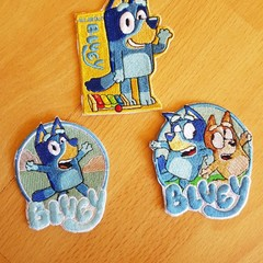 """Bluey"" iron-on Badge"