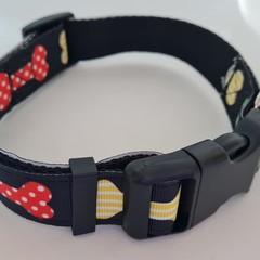 Bone print adjustable dog collars