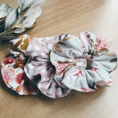 Scrunchies Set of 3- Native Bouquet, Spots & Birds