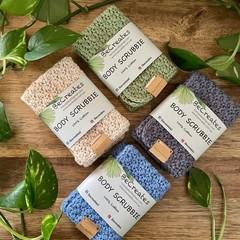BODY SCRUBBIE - Handmade- 100% cotton-Gift idea - Reusable