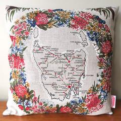 Vintage Retro Tasmania Cushion