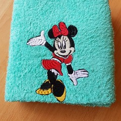 """Miss Mouse "" Embroidered Towel"