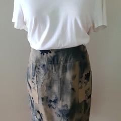 Washed Look Denim Skirt