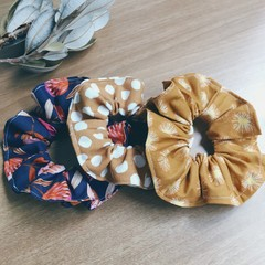 Scrunchies Set of 3- Proteas, Wattle and Spots