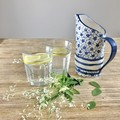 Blue Rose Handmade Ceramic Jug/ Jug / Gift / Free Postage