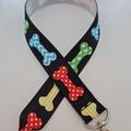 Dog bone print lanyard / ID holder / badge holder