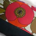 Vintage Retro 'Sanderson Rhea Poppy' Pillow Cushion Cover
