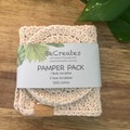 Pamper Pack, Body & Face Scrubbies, Reusable Wipes, Facial rounds, Face wipes