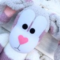 'Briar' the Sock Bunny - purple pink white & grey - EASTER - *READY TO POST*