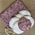 Handmade reusable make up wipes - pack of 10