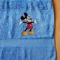 """Welcome Mouse "" Embroidered Towel"