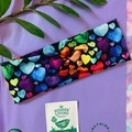 Rainbow hearts adult sizing turban twist headband