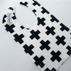 Black and white swiss crossbib
