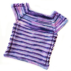 Lavender sparkle girls over-tee - size 6-12 mths