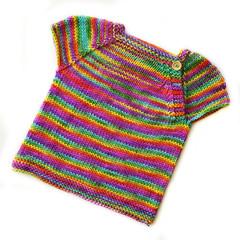 Rainbow sparkle girls over-tee - size 6-12 mths