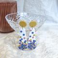 Tiny Confetti Floral stud drops