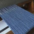 Handwoven Wool-Blend Scarf, Blue