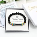 LGBT Gay Pride Beaded Intention Bracelet | Rainbow Wish Bracelet |