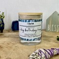 Soy wax candle Birthday Gift | Personalised Floral Candle  | Hand poured candle