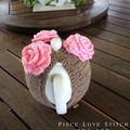 Sequin Rose TEA COSY, fits most 4-6 cup teapots, free shipping