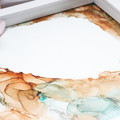 Earthy Alcohol Ink Painting on Paper