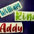 Personalised Decals, Sticker, Tumbler,  Custom names