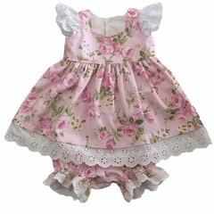 SIZE 0000 (Newborn) Pink Rose Dress and Bloomers SET