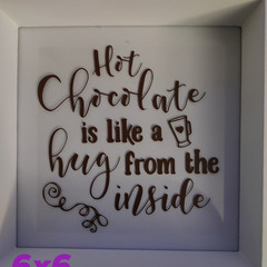 Frames with Personalised Quotes 6x6""