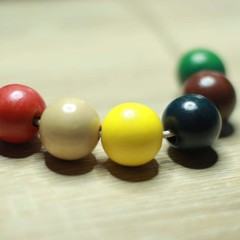 Coloured Wooden Necklace