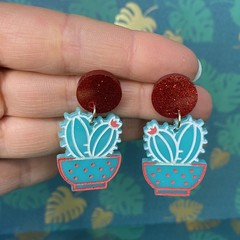 Plant Lady Cactus Dangles  (Various Styles)