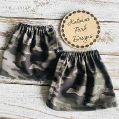 """Adult sock protectors/ Boot Covers. with side Snaps """"Camo"""""""