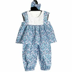SIZE 0 (6-12mths) Daity Blue Flowers Top and Pants SET