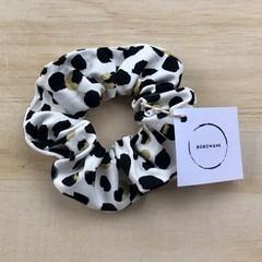 Gold & black Lily scrunchie