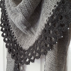 Storm beaded shawl