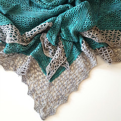 Atlantic Lace beaded shawl