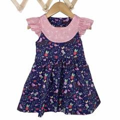 Purple Print Fun Baby Festival Dress