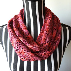 Moulin Rouge chevron infinity scarf